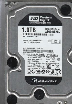 """Western Digital WD1002FBYS-02A6B0 DCM:HARNHV2CA 1000gb 3.5/"""" Sata hard drive"""