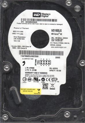 WD1600JS-08MHB0, DCM DSCANTJAH, Western Digital 160GB SATA 3.5 Hard Drive