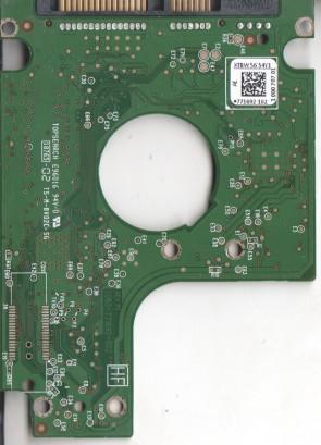 WD5000BPVT-00HXZT1, 771692-102 AE, REV P1, WD SATA 2.5 PCB