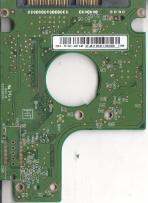 WD2500BEVT-22A23T0, 2061-771672-001 04P, WD SATA 2.5 PCB