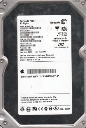 ST380011A, 3JV, AMK, PN 9W2003-041, FW 3.06, Seagate 80GB IDE 3.5 Hard Drive