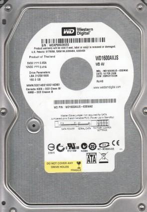 WD1600AVJS-63SWA0, DCM EBRCHT2CGN, Western Digital 160GB SATA 3.5 Hard Drive