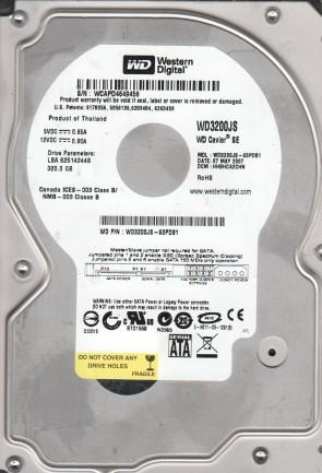 WD3200JS-63PDB1, DCM HHBHCA2CHN, Western Digital 320GB SATA 3.5 Hard Drive