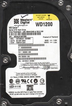 WD1200JD-22HBB0, DCM HSBHCTJAH, Western Digital 120GB SATA 3.5 Hard Drive