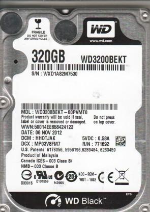 WD3200BEKT-00PVMT0, DCM HHOTJAK, Western Digital 320GB SATA 2.5 Hard Drive