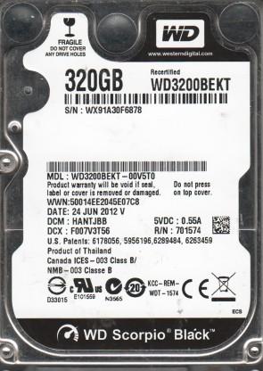 WD3200BEKT-00V5T0, DCM HANTJBB, Western Digital 320GB SATA 2.5 Hard Drive