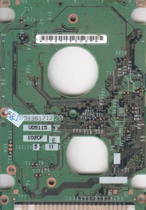 MHT2040AT, CP004872-01, CA26325-B19104BA, Fujitsu IDE 2.5 PCB