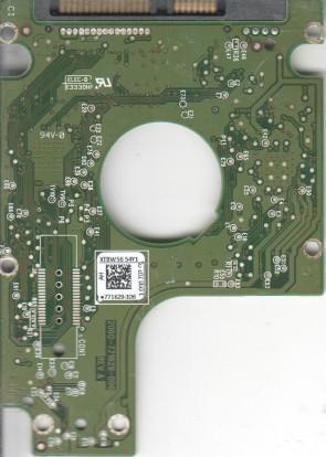 WD5000BPKT-75PK4T0, 771629-106 AH, WD SATA 2.5 PCB
