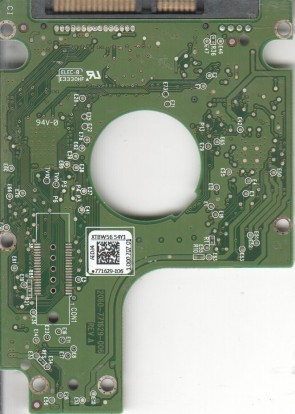 WD5000BPKT-00PK4T0, 771629-106 AED34, WD SATA 2.5 PCB