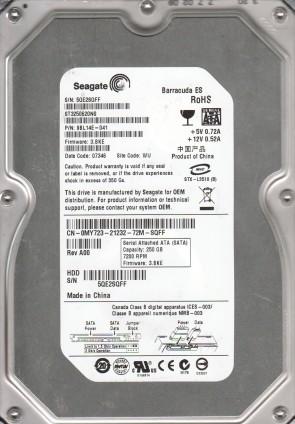ST3250620NS, 5QE, WU, PN 9BL14E-041, FW 3.BKE, Seagate 250GB SATA 3.5 Hard Drive