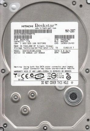 HDS721010KLA330, PN 0A34193, MLC BA2399, Hitachi 1TB SATA 3.5 Hard Drive