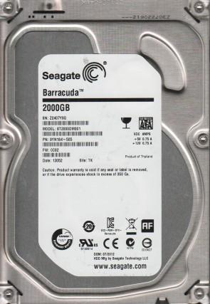 ST2000DM001, Z24, TK, PN 9YN164-505, FW CC82, Seagate 2TB SATA 3.5 Hard Drive