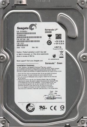 ST2000DL003, 5YD, WU, PN 9VT166-300, FW CC31, Seagate 2TB SATA 3.5 Hard Drive
