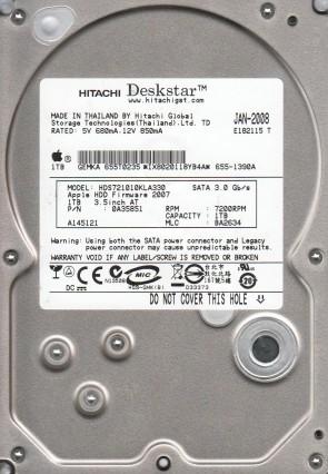 HDS721010KLA330, PN 0A35851, MLC BA2634, Hitachi 1TB SATA 3.5 Hard Drive