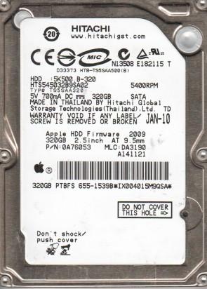HTS545032B9SA02, PN 0A76053, MLC DA3190, Hitachi 320GB SATA 2.5 Hard Drive