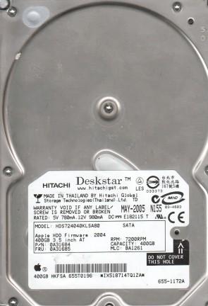 HDS724040KLSA80, PN 0A31684, MLC BA1261, Hitachi 400GB SATA 3.5 Hard Drive