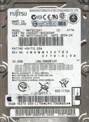 MHT2030AT, PN CA06297-B20300AP, Fujitsu 30GB IDE 2.5 Hard Drive