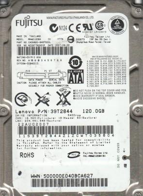 MHW2120BH, PN CA06820-B487000L, Fujitsu 120GB SATA 2.5 Hard Drive