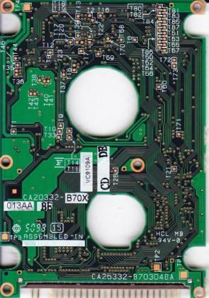 MHF2043AT, PN CA01758-B90500SN, Fujitsu 4.3GB IDE 2.5 PCB