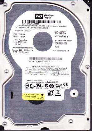 WD1600YS-01SHB1, DCM DBBACTJCAN, Western Digital 160GB SATA 3.5 Hard Drive
