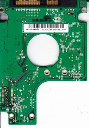 WD2500BEVS-00UST0, 2061-701499-600 AJ, WD SATA 2.5 PCB