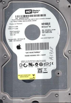WD1600JS-40TGB0, DCM HSBACTJCHN, Western Digital 160GB SATA 3.5 Hard Drive