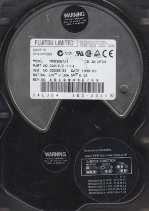MPB3064AT, PN CA01630-B361, Fujitsu 6.4GB IDE 3.5 Hard Drive