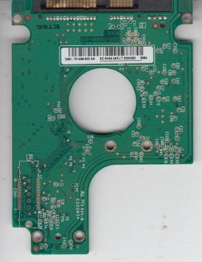 WD3200BEVT-75ZCT0, 2061-701499-500 AA, WD 320TB SATA 2.5 PCB