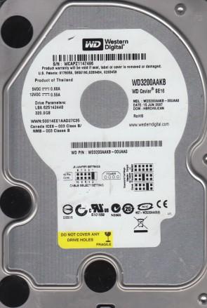 WD3200AAKB-00UAA0, DCM HBRCHVJCAN, Western Digital 320GB IDE 3.5 Hard Drive