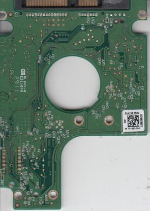WD7500BPVT-80HXZT3, 771820-000 03P, REV P1, WD SATA 2.5 PCB