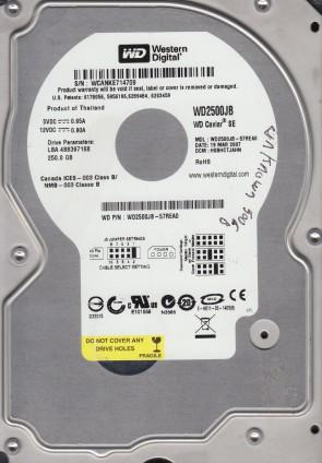 WD2500JB-57REA0, DCM HSBHCTJAHN, Western Digital 250GB IDE 3.5 Hard Drive