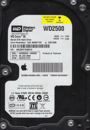 WD2500JS-40NGB2, DCM DSCHCTJCH, Western Digital 250GB SATA 3.5 Hard Drive