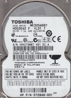 MK3256GSY, A0/LH013C, HDD2E62 F VL01 T, Toshiba 320GB SATA 2.5 Hard Drive