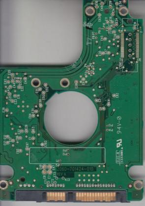 WD1600BEVE-00UYT0, 2061-701510-000 AG, REV A, WD IDE 2.5 PCB