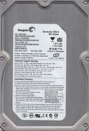 ST3200826A, 3ND, AMK, PN 9Y7289-301, FW 3.03, Seagate 200GB IDE 3.5 Hard Drive