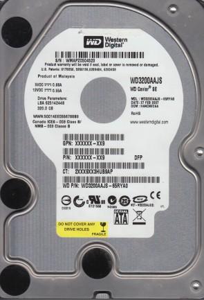 WD3200AAJS-65RYA0, DCM HANCNV2AA, Western Digital 320GB SATA 3.5 Hard Drive