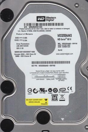 WD3200AAKS-00VYA0, DCM HHRNHTJCH, Western Digital 320GB SATA 3.5 Hard Drive