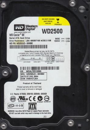 WD2500JD-98HBB0, DCM HSBHCTJAH, Western Digital 250GB SATA 3.5 Hard Drive