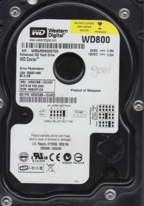 WD800BB-00JHC0, DCM HSBANTJCA, Western Digital 80GB IDE 3.5 Hard Drive