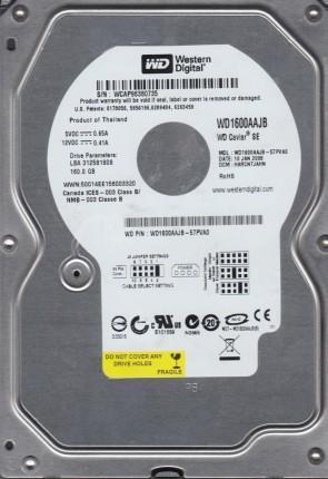WD1600AAJB-57PVA0, DCM HARCNTJAHN, Western Digital 160GB IDE 3.5 Hard Drive