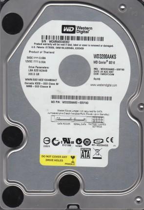 WD3200AAKS-00VYA0, DCM HARCHTJCAN, Western Digital 320GB SATA 3.5 Hard Drive