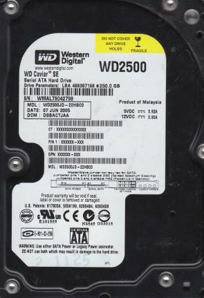 WD2500JD-22HBC0, DCM DSBACTJAA, Western Digital 250GB SATA 3.5 Hard Drive