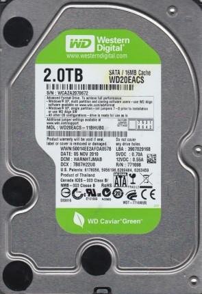 WD20EACS-11BHUB0, DCM HARNHTJMAB, Western Digital 2TB SATA 3.5 Hard Drive