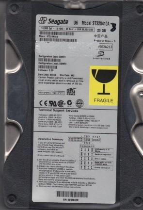 ST320410A, 5FB, WU, PN 9T7001-332, FW 3.39, Seagate 20GB IDE 3.5 Hard Drive
