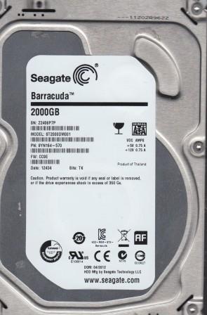 ST2000DM001, Z24, TK, PN 9YN164-570, FW CC9E, Seagate 2TB SATA 3.5 Hard Drive