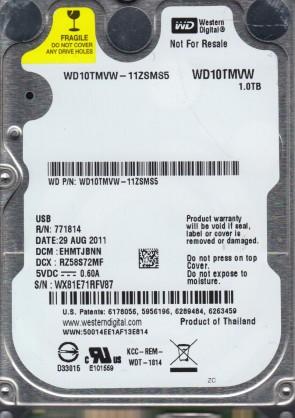 WD10TMVW-11ZSMS5, DCM EHMTJBNN, Western Digital 1TB USB 2.5 Hard Drive
