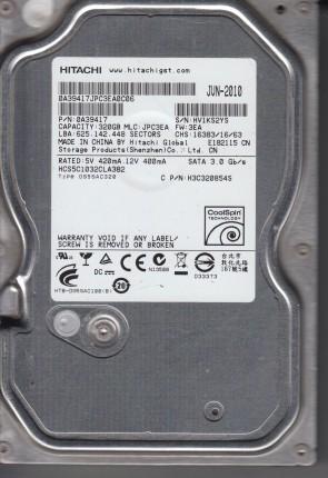 HCS5C1032CLA382, PN 0A39417, MLC JPC3EA, Hitachi 320GB SATA 3.5 Hard Drive