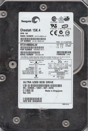 ST3146854LW, 3KN, AMK, PN 9X4005-041, FW D402, Seagate 146GB SCSI 3.5 Hard Drive