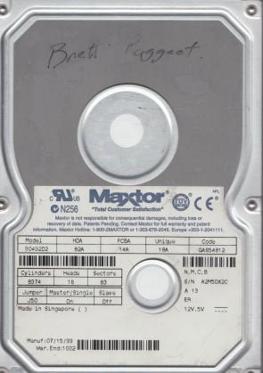 90432D2, Code GAS54812, NMCB, Maxtor 4.3GB IDE 3.5 Hard Drive