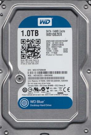 WD10EZEX-00KUWA0, DCM EGRNHT2MHB, Western Digital 1TB SATA 3.5 Hard Drive
